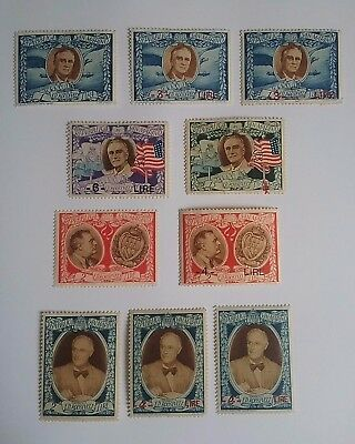 San Marino 1947 Roosevelt stamps mint