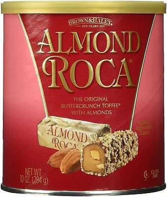Almond Roca Chocolate Butter Crunch TOffee With Almonds 10 oz. Can Free Shipping