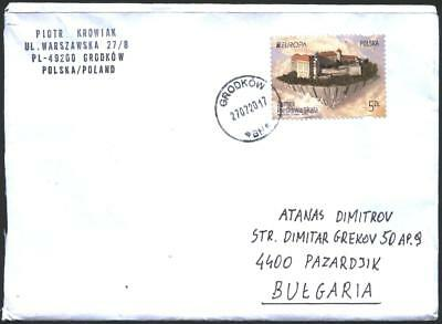 Mailed cover with stamp  Europa CEPT 2017  from Poland