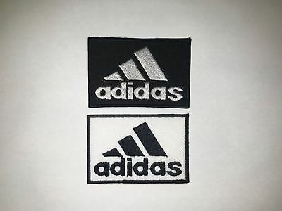 Adidas Sports Logo Embroidered Badge Iron On / Sew On Clothes Jacket Jeans New
