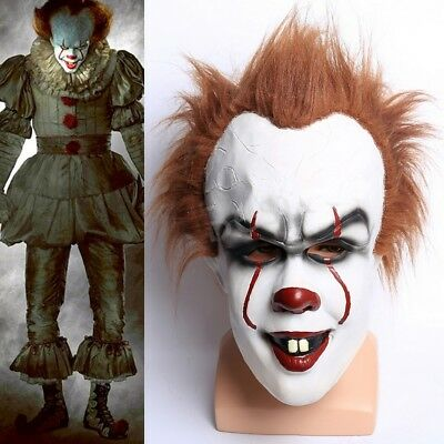 Pennywise IT Clown ça 2017 Mask Stephen King's Fancy Costume Halloween Masque
