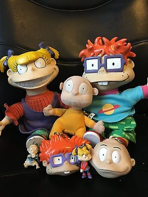 Vintage Rugrats Chuckie and Angelica Viacom doll bundle 1997 Applause