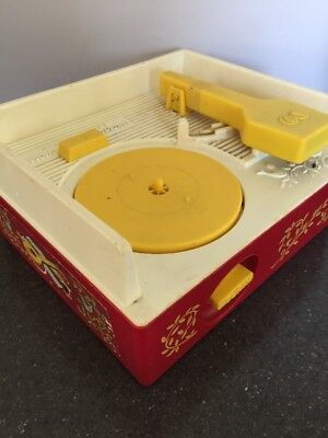 Vintage Fisher Price Plastic Music Player Record Player