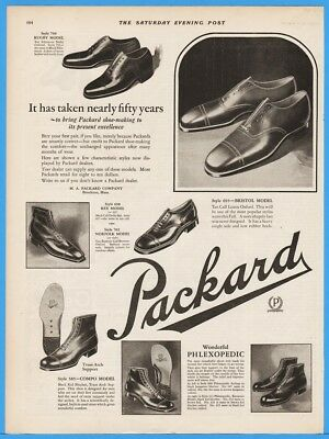 1924 Packard Shoe Making Rugby Bristol Rex Norfolk Compo Phlexopedic Print Ad