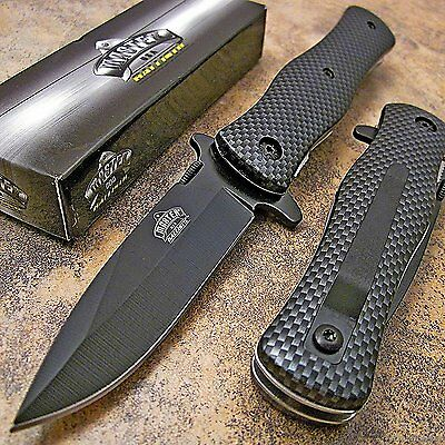 MASTER USA Carbon Fiber Tactical Hunting Rescue Pocket Folding Knife MU-A006CF