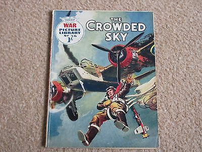 War Picture Library comic No 56, 'The Crowded Sky' 1960 -GC/ Commando