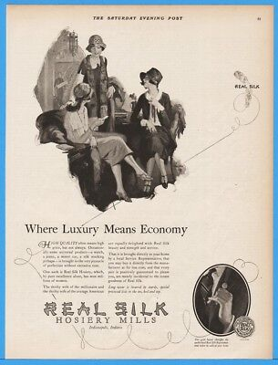 1924 Real Silk Hosiery Mills Indianapolis IN 20s Women's Stockings Ohlson Art Ad