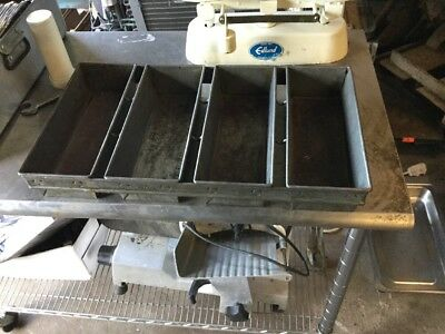 Commercial Strapped Bread Pans Qty 4
