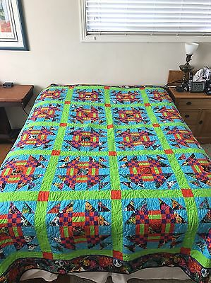 """New Handmade In The United States Full / Double Size Quilt 77""""X84"""""""