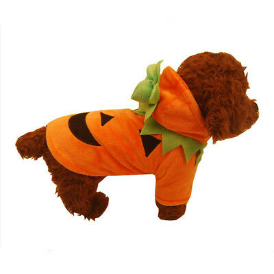 Halloween Christmas  Funny Pet Dog Cat Clothes Pumpkin Costume Fancy Puppy Party