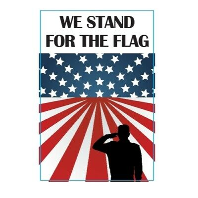 We Stand For The Flag Patriotic Magnet 4x6 in Decal for Car Truck SUV or Fridge