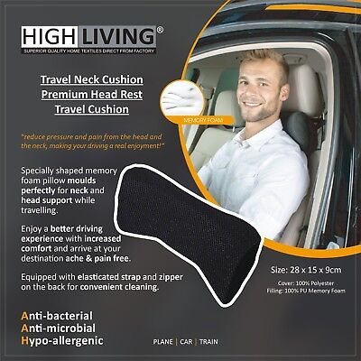 HighLiving® Memory Foam Travel Head Neck Car Seat Cushion Flight Support Pillow