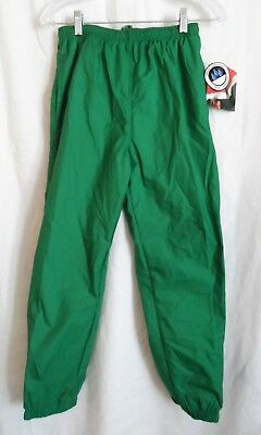 Boys L 10/12 Green Athletic Jersey Lined Sweat Pants Resistant Nwt ~ Holloway