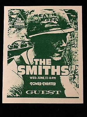 The Smiths Meat Is Murder Backstage Pass-Tower Theater-Philadelphia 1985 Unused