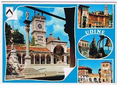 Italy Postcard Udine Clock Tower Multi View
