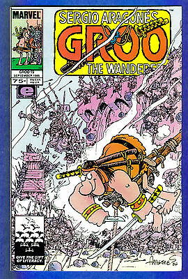 GROO THE WANDERER # 19 -- Volume 1 - Marvel 1986  (fn+)