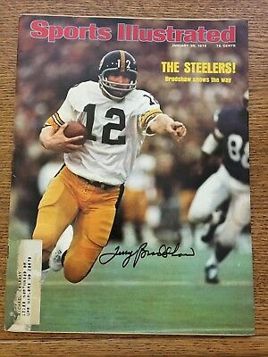 Pittsburgh Steeler great Terry Bradshaw autographed Sports Illustrated-COA-Holo