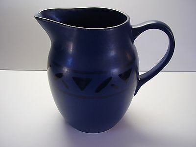 Pfaltzgraff Morning Light Dark Blue with Designs Water Pitcher FREE SHIPPING