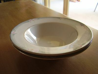Royal Doulton Sophistication Rim Soup Bowls Set of Two FREE SHIPPING.
