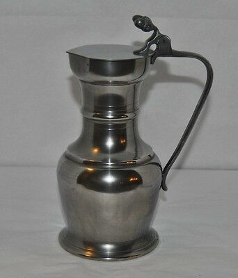Outstanding Vintage Etain - Fin 95% Pewter Syrup Pitcher