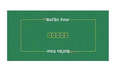 Texas Holdem Poker Table Layout [ID 70258]