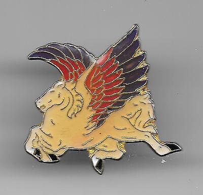 Vintage White Pegasus with Red and Purpole Wings old enamel pin