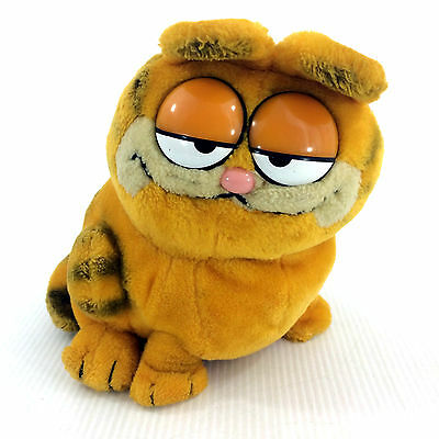 "Garfield Plush Stuffed Animal Vintage 1981 Dakin 11"" Doll 80's Collectible Toy"