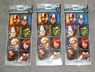 Marvel AVENGERS Holographic Stickers by Hallmark - 48 total stickers - New