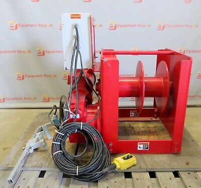 Thern Inc. Worm Gear Power Winch Drum 2 Hp 6000 Lb Layer Rating 4WS6M12-S80