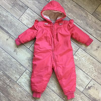 Vintage Pink Weather Tamer Winter Girls Toddler Snow Suit 18m 2T GVC