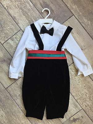 Vintage Classic Southern Boys Childrens Hour Jan Briggs Outfit 4 Piece Christmas