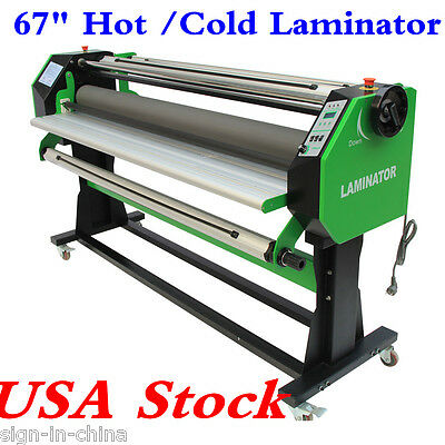 """110V 67"""" Stand Frame Full-auto Single Side Wide Format Hot /Cold Laminator USA!!"""