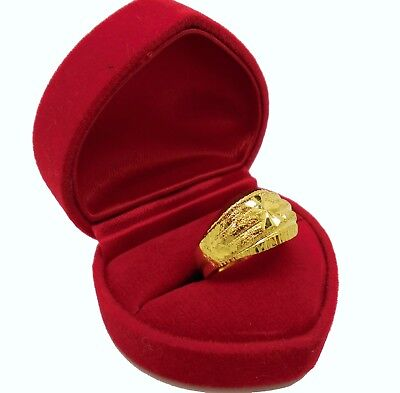 Sale Ring Women Men's Thai Baht 24k Yellow Gold Plated Jewelry SIZE 7