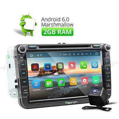 """8"""" Octa Core Car Stereo GPS Bluetooth Android 6.0 for VW Touran 2004 + Camera O"""