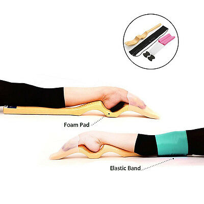 Ballet Wooden Foot Stretch Stretcher Arch Enhancer Elastic Band Dance Gymnastic