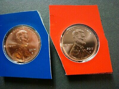 2017-P+D Both Uncirculated Lincoln Sheild Cent Super Low Mintage Sealed Packages