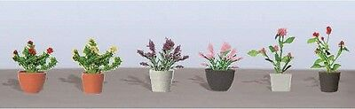 "JTT Scenery Products-Flowering Potted Plants Assortment 1, 1"" (6)"