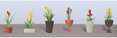 "JTT Scenery Products-Flowering Potted Plants Assortment 2, 7/8"" (6)"