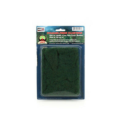 JTT Scenery Products-Medium Foliage-Fiber Cluster, Dark Green