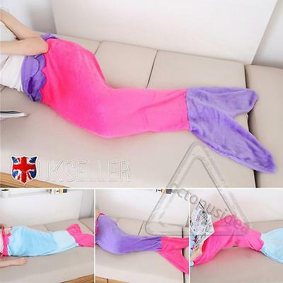 Soft Flannel Mermaid Tail Blanket Fish Bag Fleece snuggle-in Bed Costume Adult