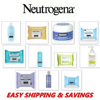 Neutrogena Makeup Removal Towllets + Clensing Gel Many Options Free World Ship