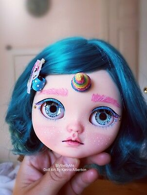 Custom Icy Doll blythe UNICORN faceplate and backplate