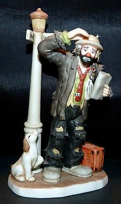 """Flambro ~ Emmett Kelly Jr ~ """" Convention Bound """" ~ Miniature Collection"""