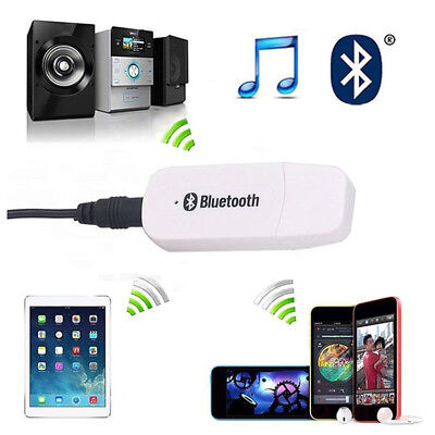 USB Bluetooth Music Audio Stereo Receiver Adapter For Car AUX MP3 Speaker New.