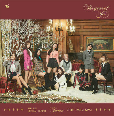 TWICE [THE YEAR OF YES] 3rd Special Album CD+POSTER+Book+4Card+Sticker+Pre-Order