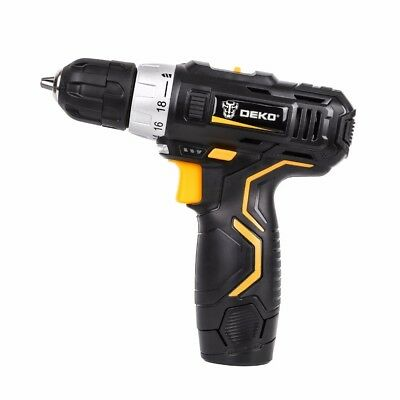18V DC Lithium-Ion Battery Cordless Dril Power Tools Screwdriver Electric Drill