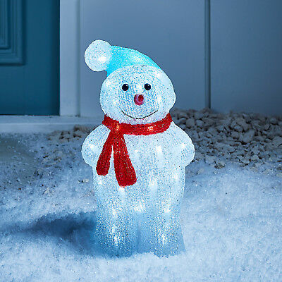 Light Up LED Snowman Indoor Outdoor Acrylic Christmas Figure Decoration