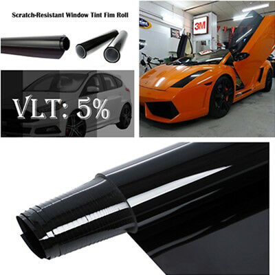5% VLT CAR AUTO HOME WINDOW TINT GLASS FILM TINTING ROLL FEET UV SHADE 3mx50cm