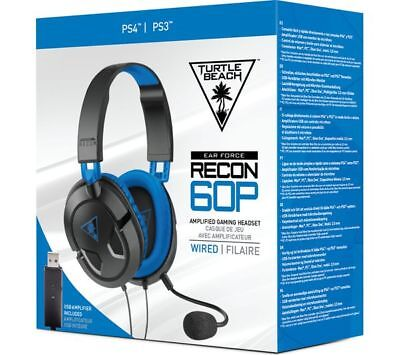 BRAND NEW Turtle Beach Ear Force Recon 60P Headset Black (PS4)