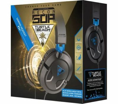 NEW TURTLE BEACH Earforce Recon 50p 2.0 Universal Gaming Headset Black & Blue